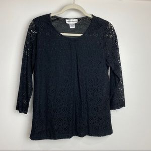 4/$25 small Cathy Daniels lace long sleeve top
